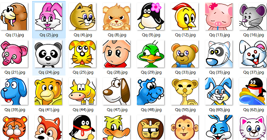 QQ2008年经典老头像,现在下载特别适合